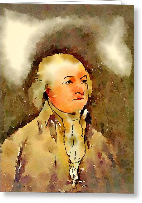 President Of The United States Of America John Adams Greeting Card