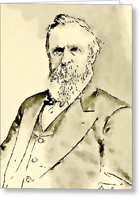 President Of The United States Of America Rutherford Hayes Greeting Card