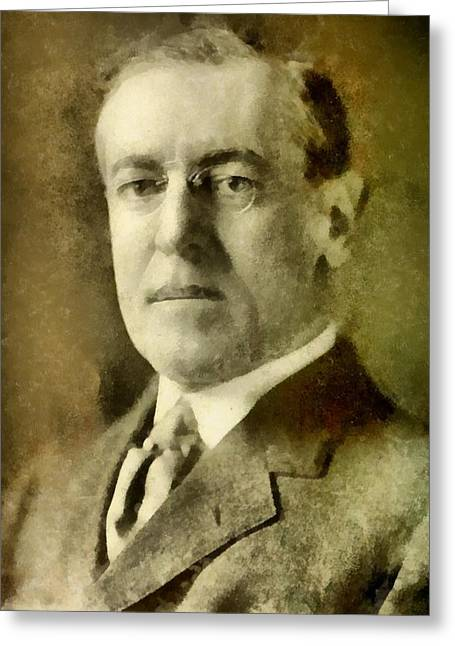 President Of The United States Of America Woodrow Wilson Greeting Card