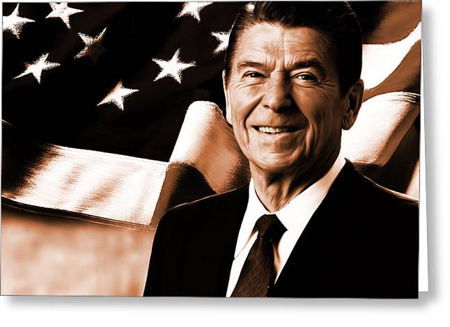 President Ronald Reagan-a Greeting Card by Gull G