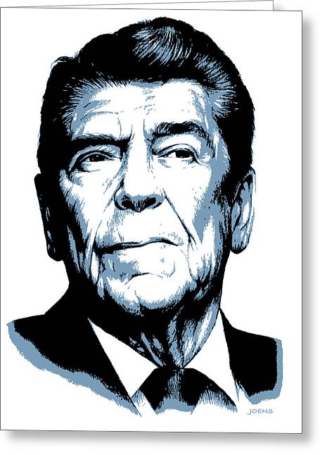 President Reagan Greeting Card
