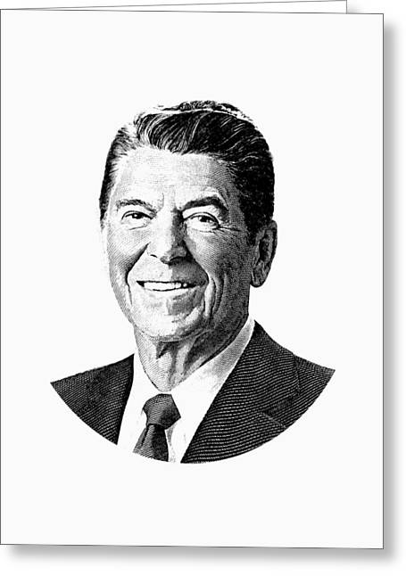 President Ronald Reagan Graphic Greeting Card by War Is Hell Store