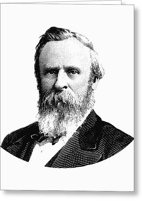 President Rutherford B. Hayes Graphic Black And White Greeting Card