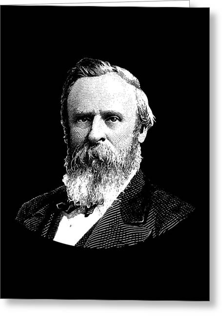 President Rutherford B. Hayes Graphic Greeting Card by War Is Hell Store