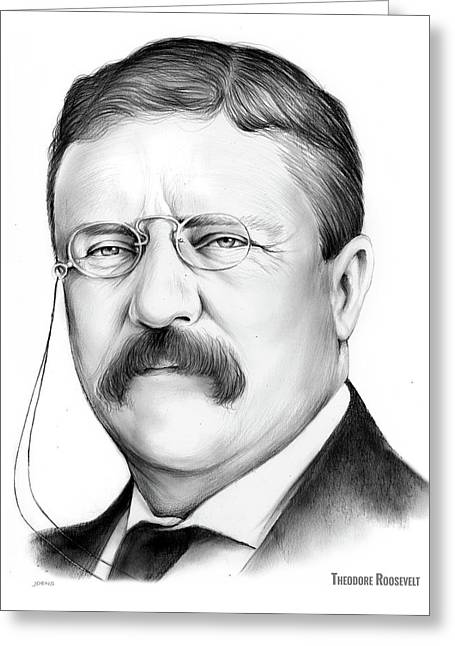 President Theodore Roosevelt 2 Greeting Card