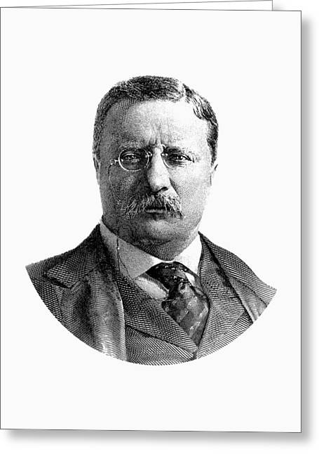 President Theodore Roosevelt Graphic Greeting Card by War Is Hell Store