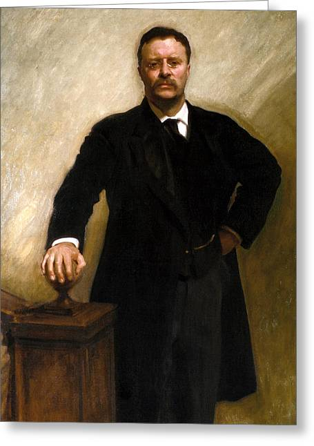 President Theodore Roosevelt Painting Greeting Card