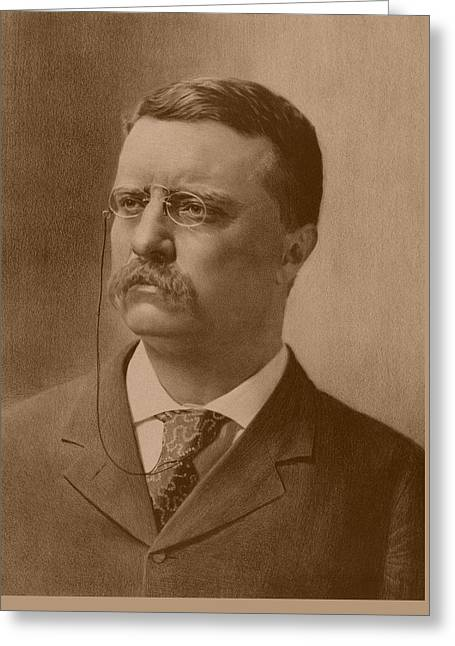 President Theodore Roosevelt - Vintage Greeting Card by War Is Hell Store