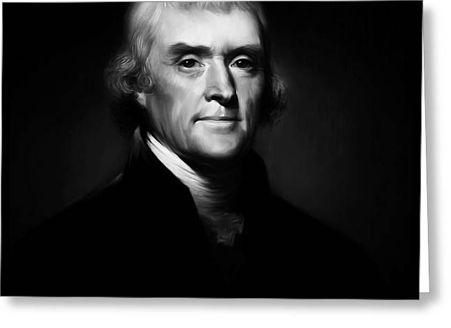 President Thomas Jefferson 004 Greeting Card
