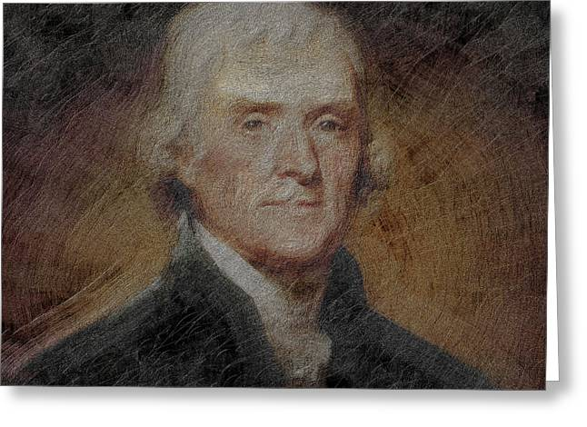 President Thomas Jefferson Greeting Card by Gull G