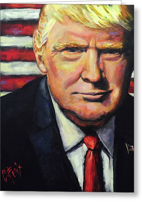 President Trump Greeting Card by Carole Foret