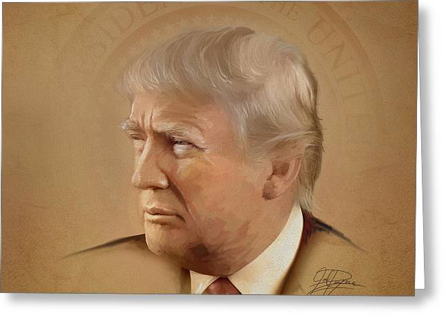 President Trump Greeting Card by Joel Payne
