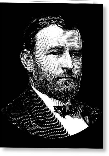 President Ulysses S. Grant Graphic Three Greeting Card