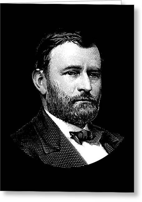 President Ulysses S. Grant Graphic Greeting Card by War Is Hell Store