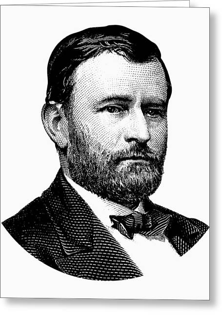 President Ulysses S. Grant Graphic White 2 Greeting Card