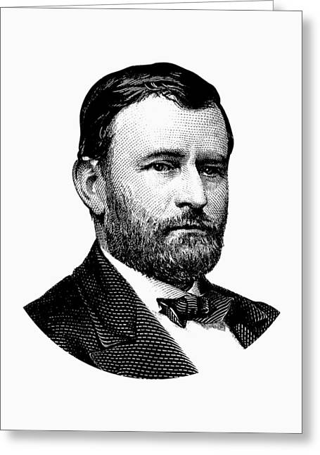 President Ulysses S. Grant Graphic White Greeting Card by War Is Hell Store
