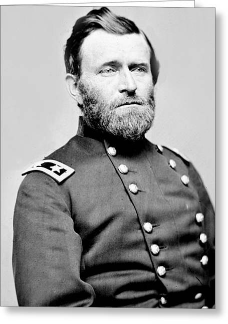 President Ulysses S Grant In Uniform Greeting Card