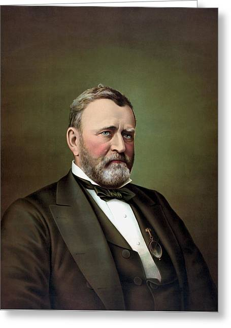 President Ulysses S Grant Portrait Greeting Card by War Is Hell Store