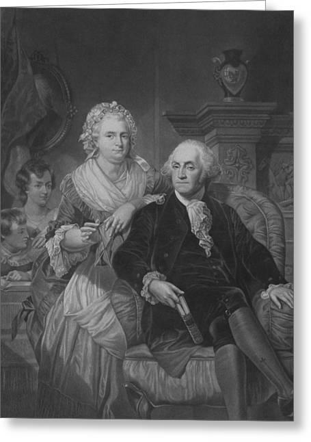 President Washington At Home Greeting Card