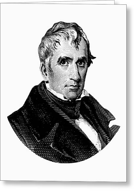 President William Henry Harrison Graphic Greeting Card by War Is Hell Store