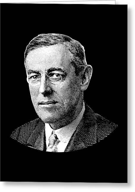 President Woodrow Wilson Graphic Greeting Card by War Is Hell Store