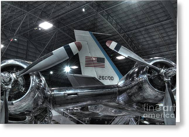 Presidential Aircraft - The Independence, Douglas Vc-118 And Sam 26000  Greeting Card