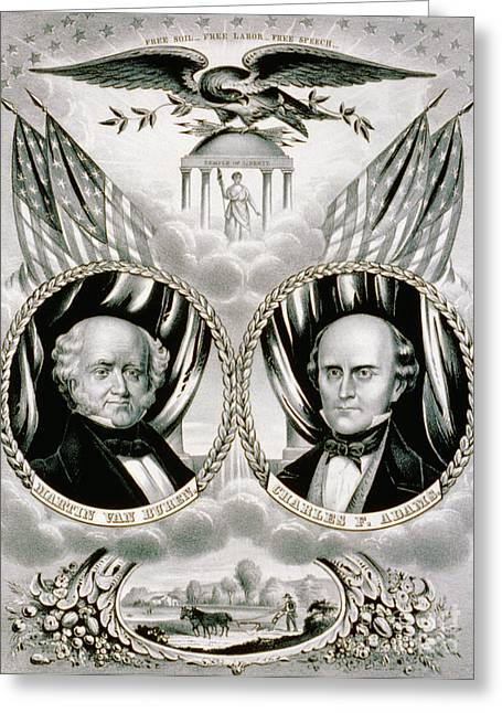 Presidential Campaign Banner, 1848 Greeting Card