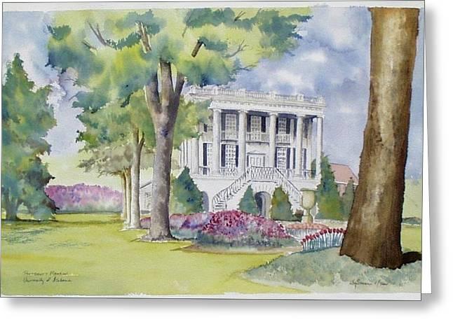 President's Mansion During Azalea Season Greeting Card by Jim Stovall