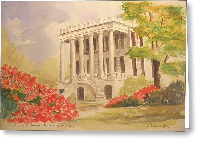 President's Mansion, University Of Alabama Greeting Card by Jim Stovall