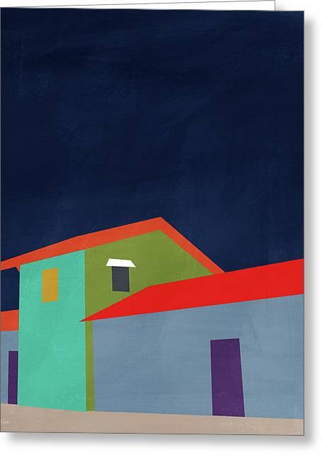 Presidio- Art By Linda Woods Greeting Card by Linda Woods