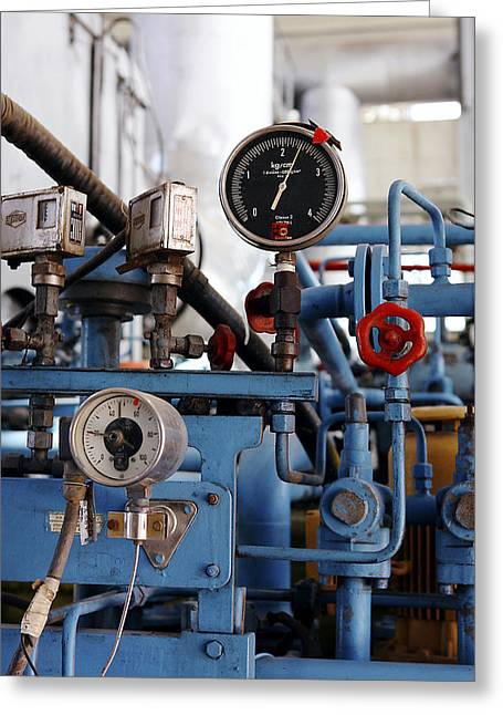 Pressure Dials, Natural Gas Industry Greeting Card by Ria Novosti