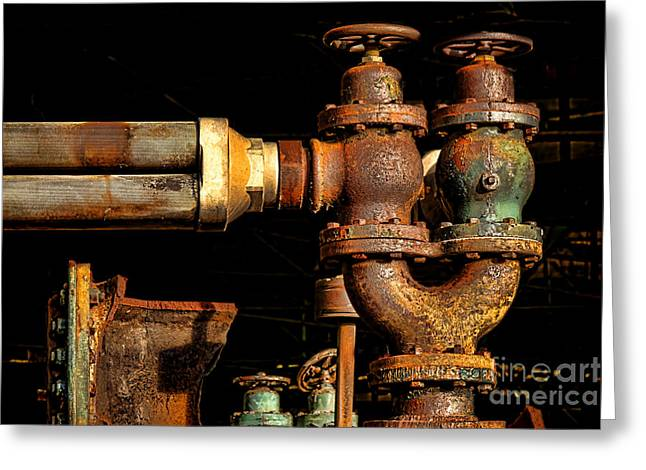 Pressure Relief Valves Greeting Card