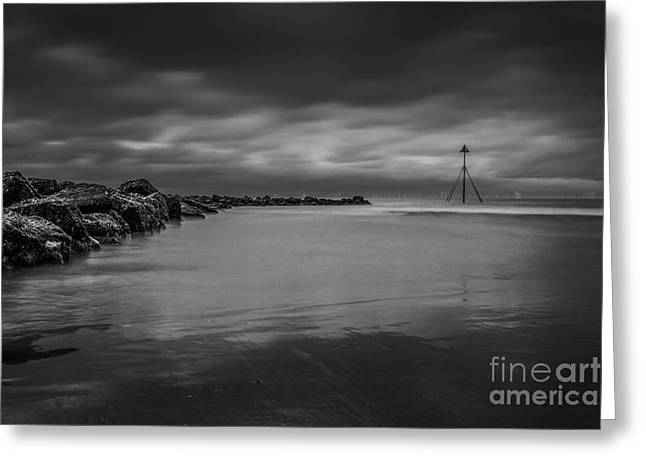Prestatyn Groyne  Greeting Card by Chris Evans