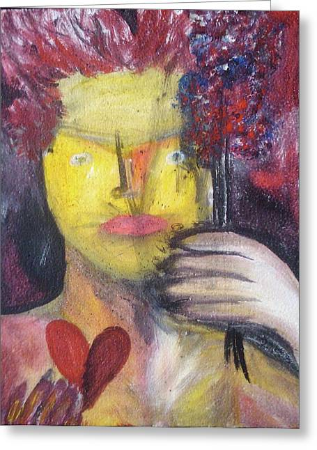 Pretending To Love Me Greeting Card by David Ortega