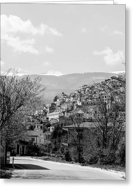Pretoro - Landscape Greeting Card by Andrea Mazzocchetti