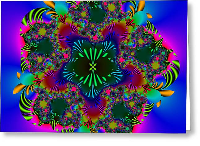 Greeting Card featuring the digital art Prettering by Andrew Kotlinski