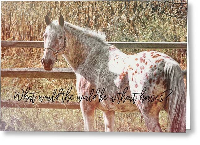 Pretty Appaloosa Quote Greeting Card by JAMART Photography