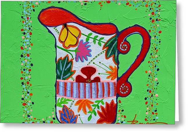 Pretty As A Pitcher Greeting Card