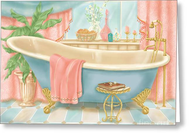 Pretty Bathrooms I Greeting Card by Shari Warren
