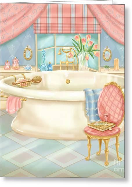 Pretty Bathrooms II Greeting Card