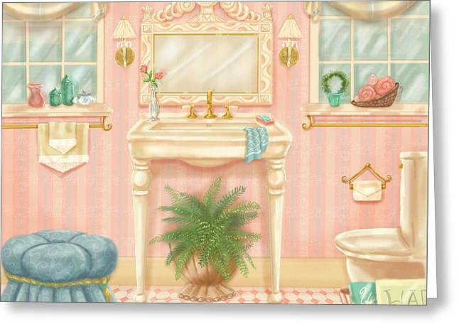 Pretty Bathrooms IIi Greeting Card by Shari Warren
