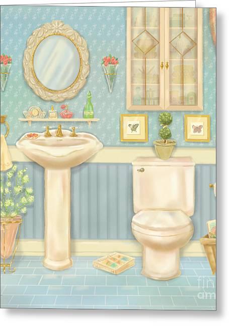 Pretty Bathrooms Iv Greeting Card