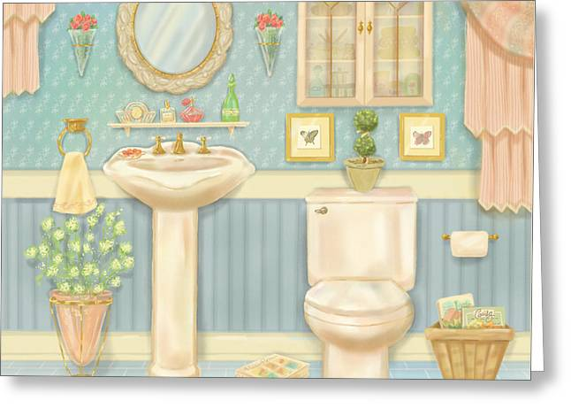 Pretty Bathrooms Iv Greeting Card by Shari Warren