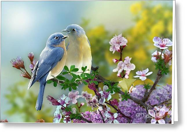 Pretty Blue Birds Greeting Card