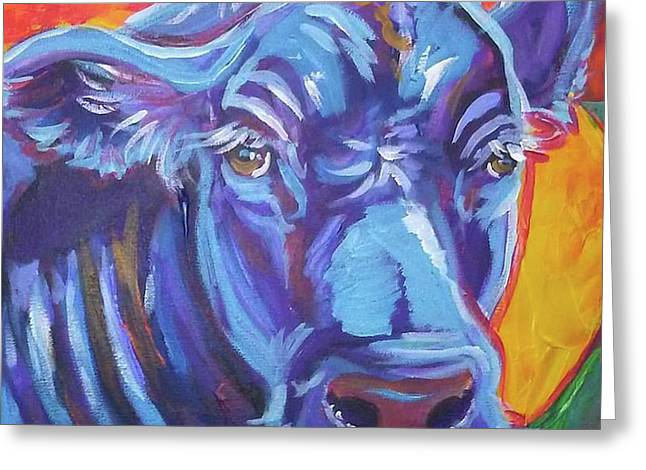 Pretty Face Cow Greeting Card