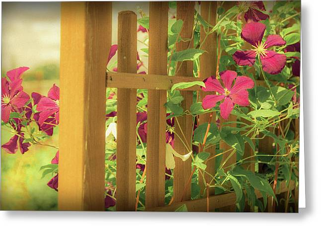 Pretty Flower Garden Greeting Card