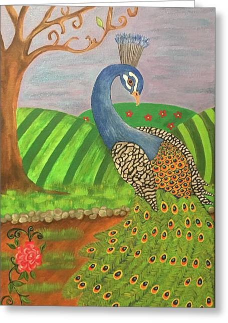 Pretty In Peacock Greeting Card