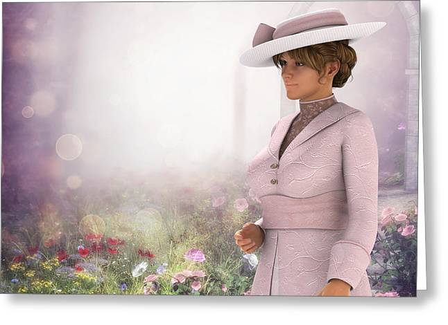 Pretty In Pink Greeting Card by Jayne Wilson