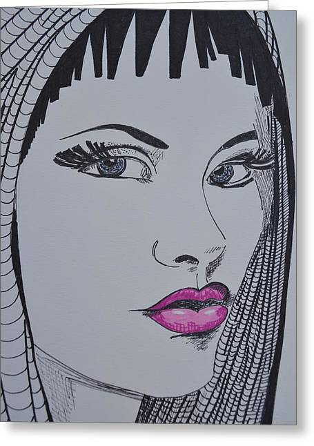 Pretty In Pink Lips Greeting Card