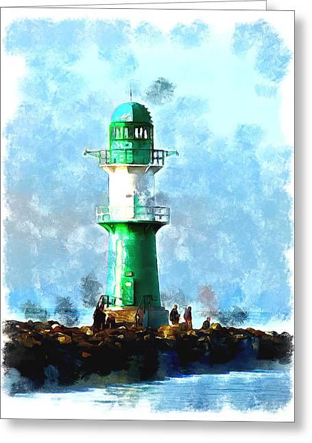 Beautiful Lighthouse  Greeting Card